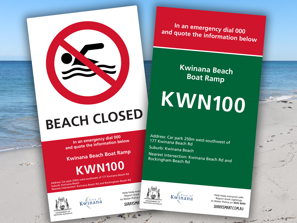 First of more than 1,000 lifesaving signs installed at WA beaches