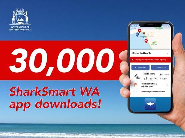 SharkSmart WA app ticks over 30,000 downloads