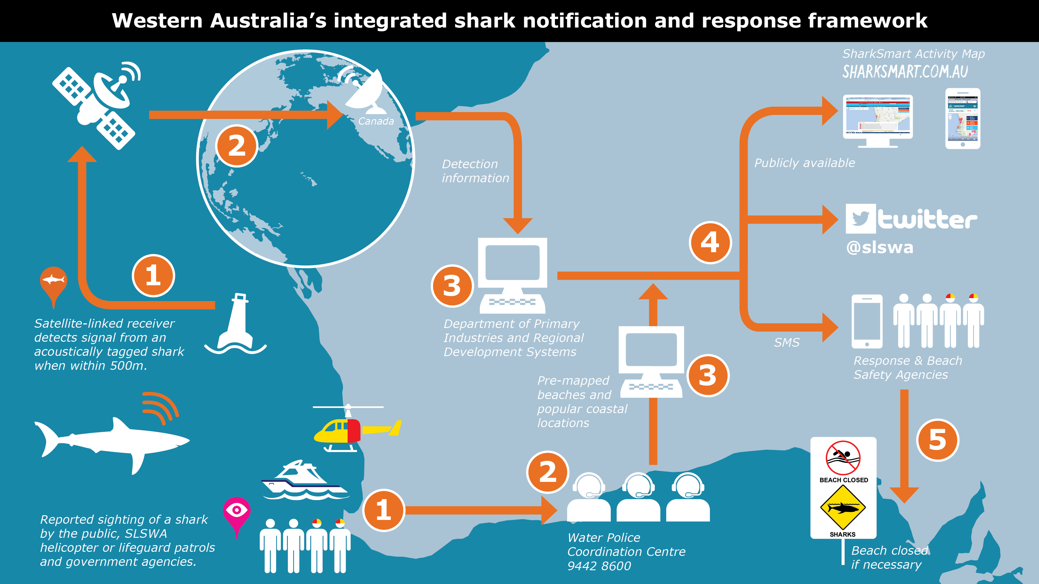 f473212bc27 ... relies on two information systems – reported shark sightings from the  Water Police 24 hour coordination centre made by the public